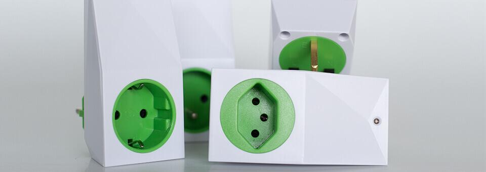 Smart Socket Air s různými typy zásuvek