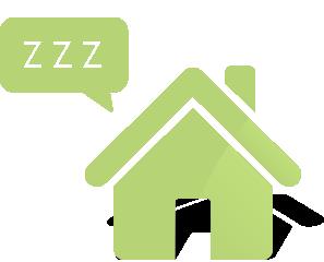 dům ve spacím režimu