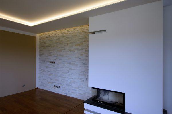 osvětlení v obývacím pokoji