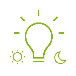 ikona automatická úroveň světla