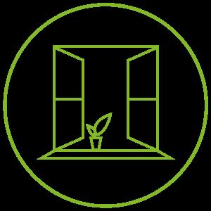 ikona otevřené okno
