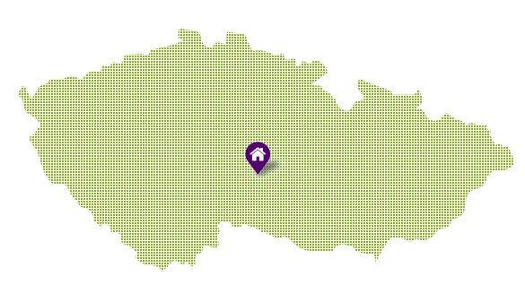 Umístění domu na mapě ČR