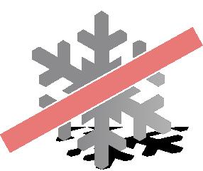přeškrnutý led
