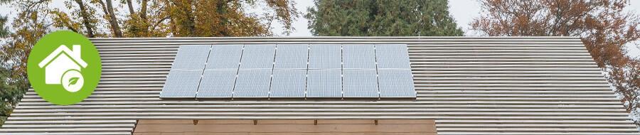 Solární panely na pasivním domě