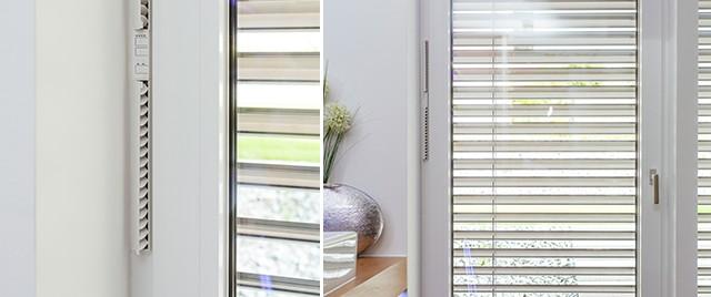 inteligentní ovládání stínění a větrání s oknem značky internorm