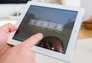 ovládání muziky v chytrém domě pomocí ipadu