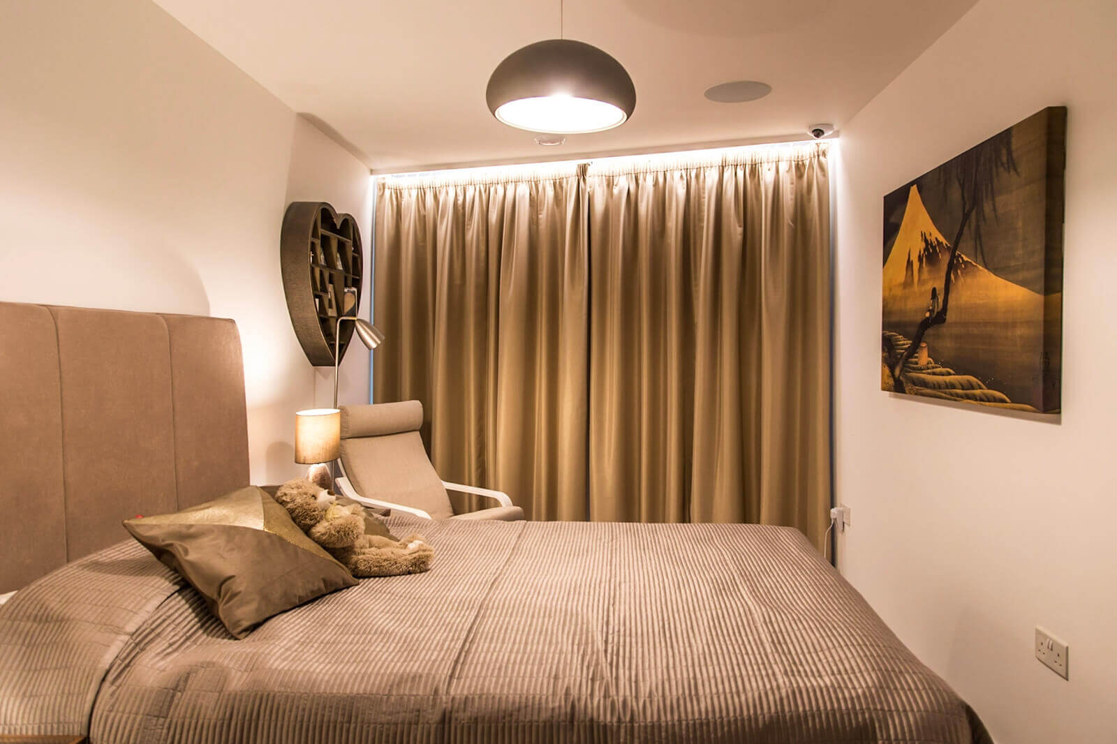 ložnice v chytrém bytě