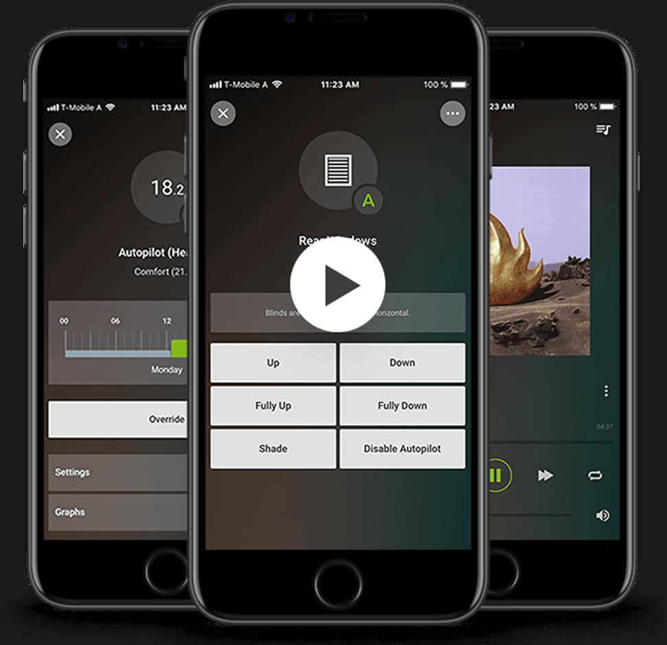Smart Home App - Přehrát video