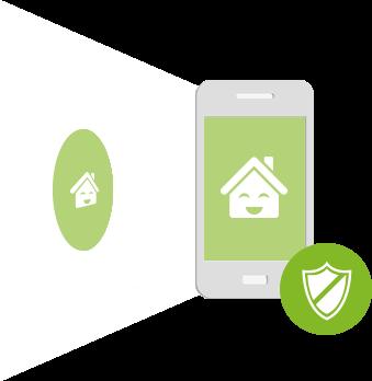 Ilustrace přístupu do Smart Home pomocí NFC Tagu