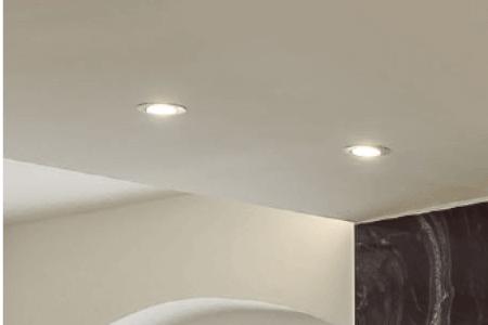 bodová LED světla ve stropě