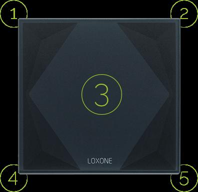 Dotykové plochy na vypínači Loxone Touch Pure