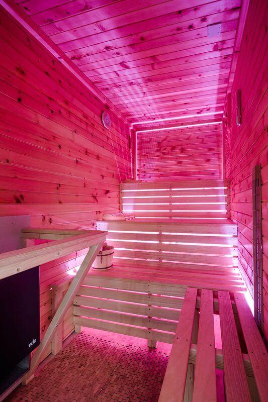 Osvětlení sauny ukázka 1