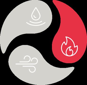 ikona oheň