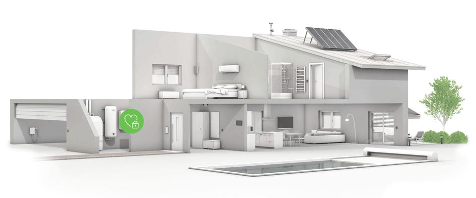 infografika - smart home data uložená lokálně