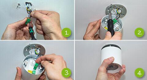 postup montáže povrchového bodového světla