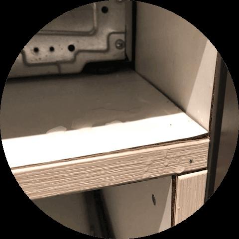rozmočená skříň pro myčku