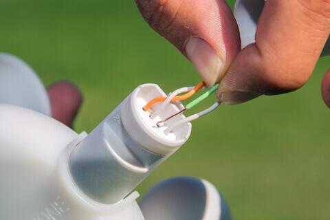 zapojení kabelů meteostanice