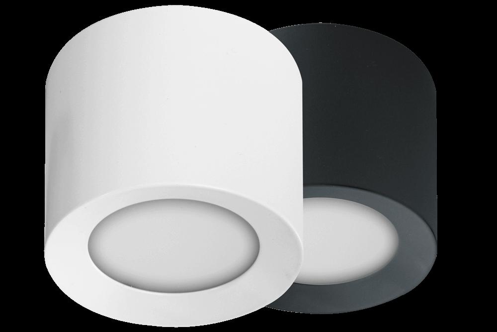Bílý a černý LED spot