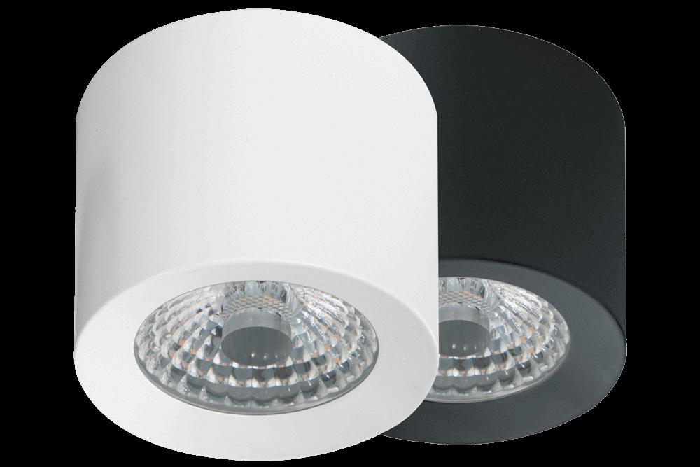 Loxone Příložné LED Spoty WW - bílý a antracitový
