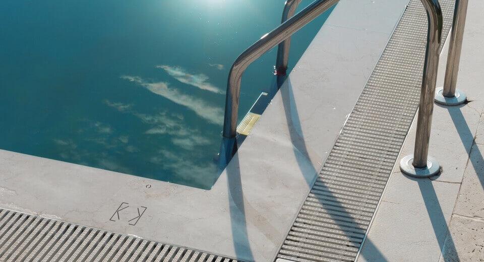 bazén se zabudovaným dotykovým ovládáním