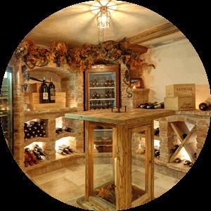 Vinný sklípek v chatě