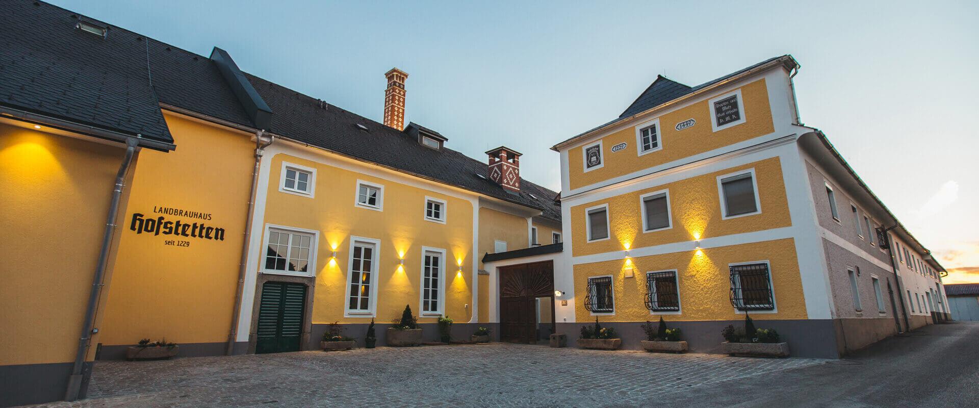 budova chytrého rakouského pivovaru Hofstetten