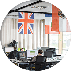 pohled do oddělení mezinárodní technické podpory