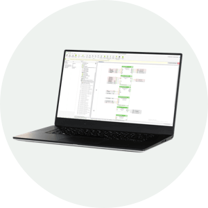 počítač se spuštěním programem Loxone Config