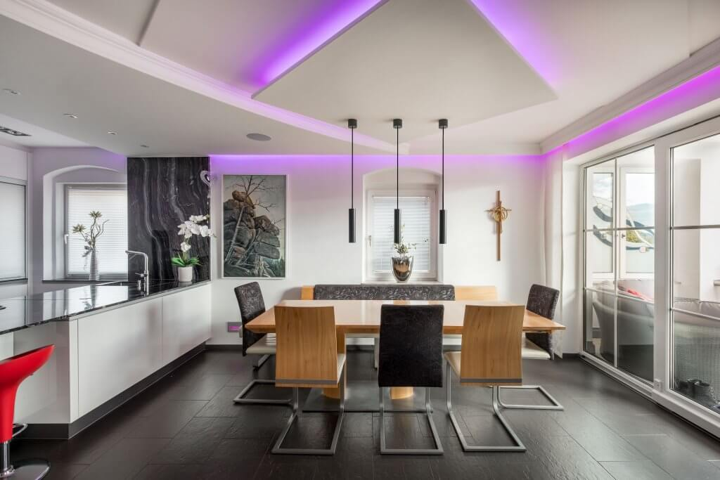Pohled do interiéru chytré domácnosti