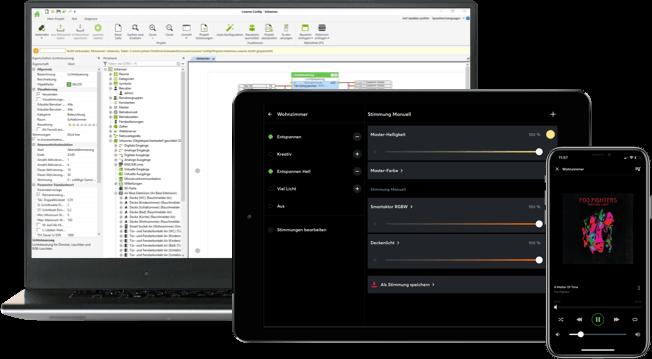 loxone software na různých zařízeních
