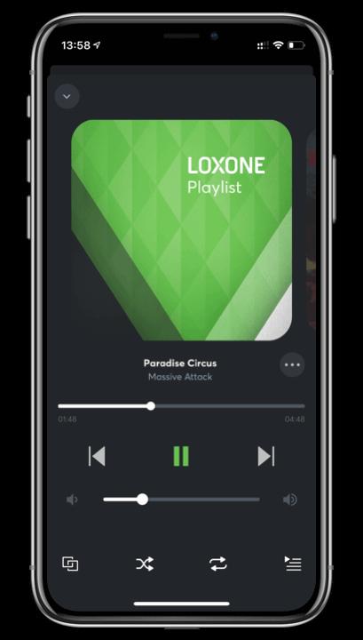 Loxone App Playlist