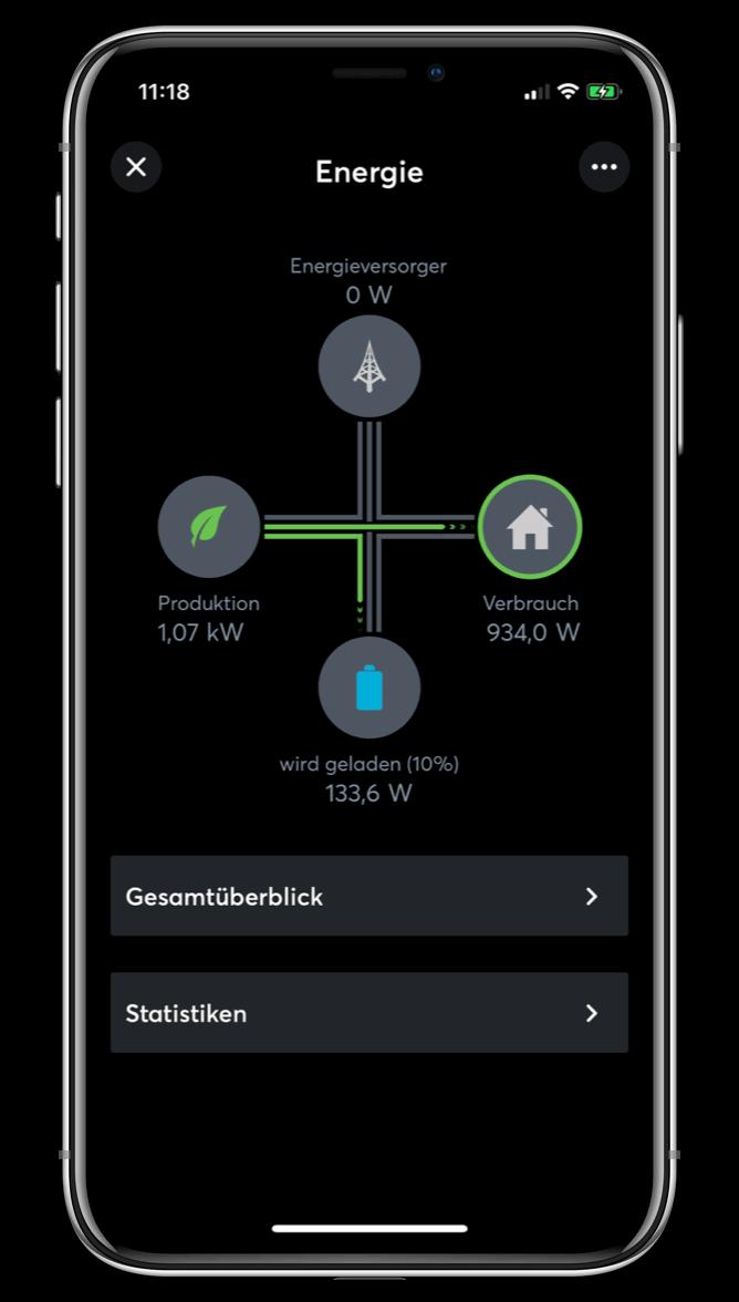 Nastavení energie v Loxone aplikaci
