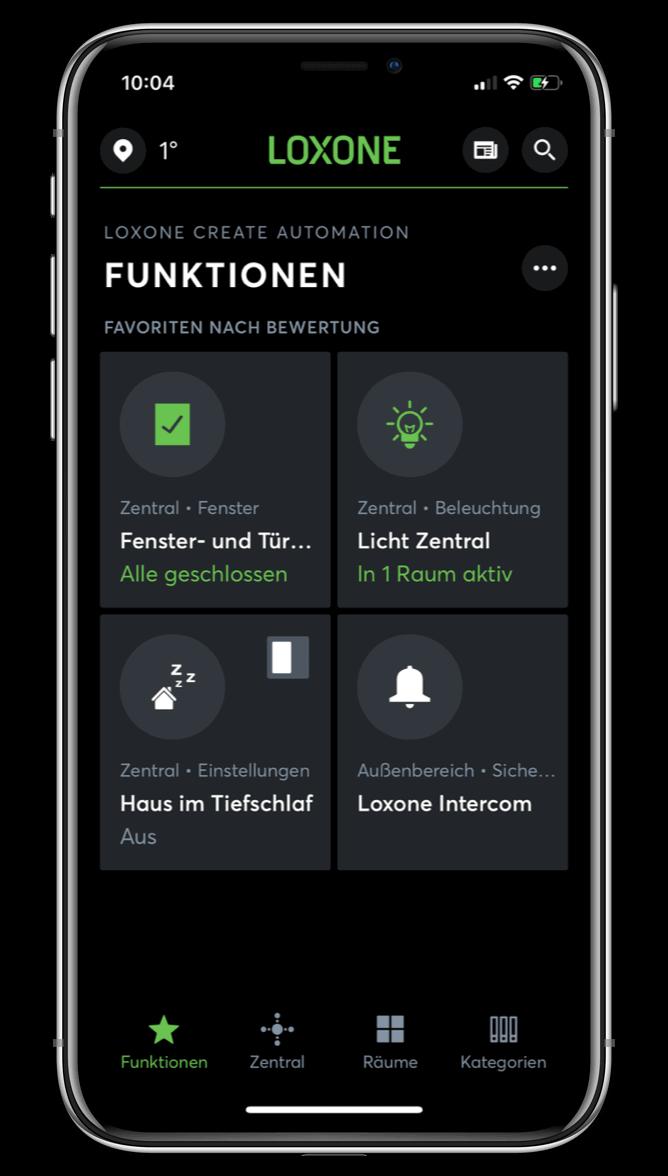 Personalizovaná Loxone aplikace