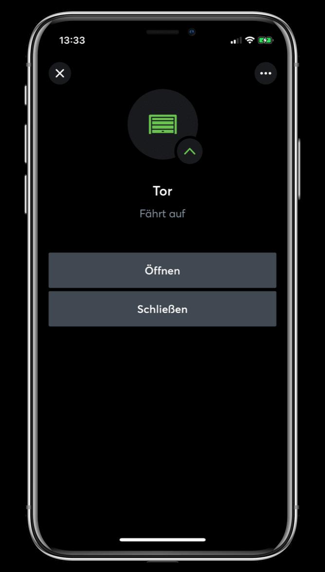 Ovládání garáže v Loxone aplikaci