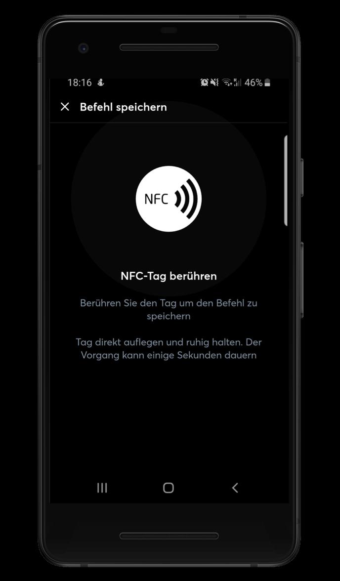 Využití NFC v Loxone aplikaci