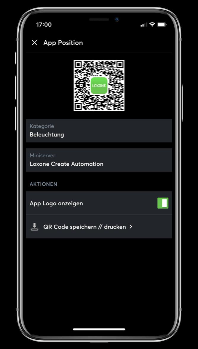 QR kódy v Loxone aplikaci