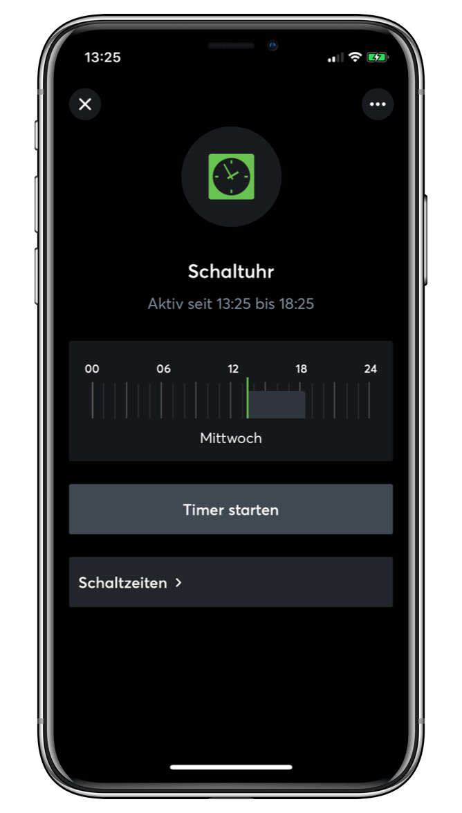 Časovač v Loxone aplikaci