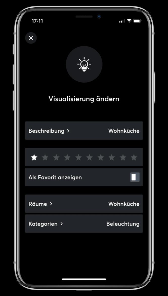 Přizpůsobení vizualizace v Loxone aplikaci