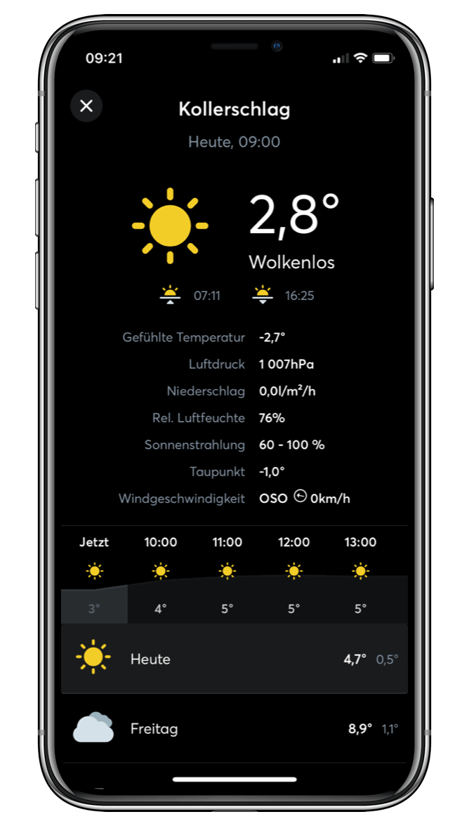 Počasí v Loxone aplikaci