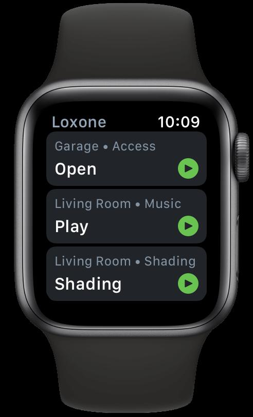 Loxone app Apple Watch