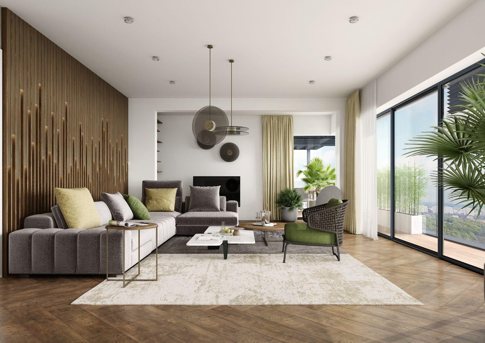 Viladům Děvín - obývací pokoj