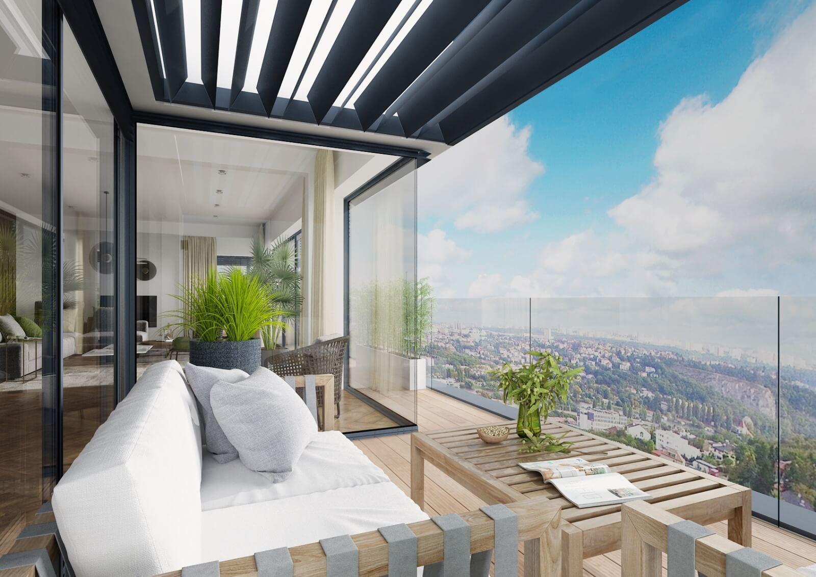 Viladům Děvín - výhled z terasy