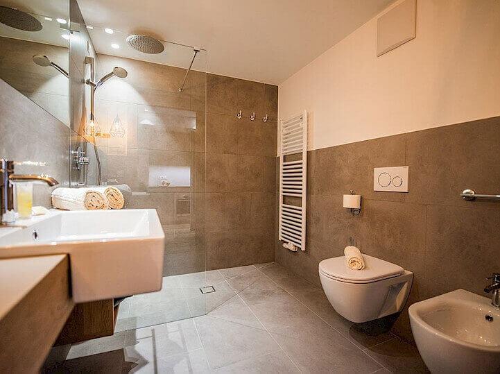 Koupelna v rezidenci Alpenrose