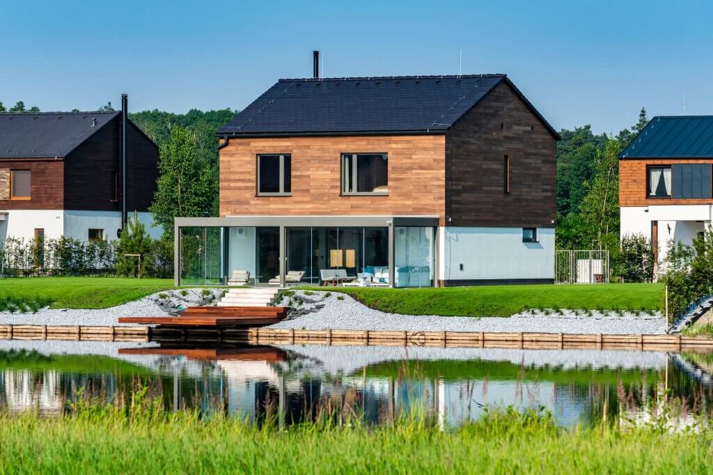 Luxusní chaty řízené pomocí Loxone
