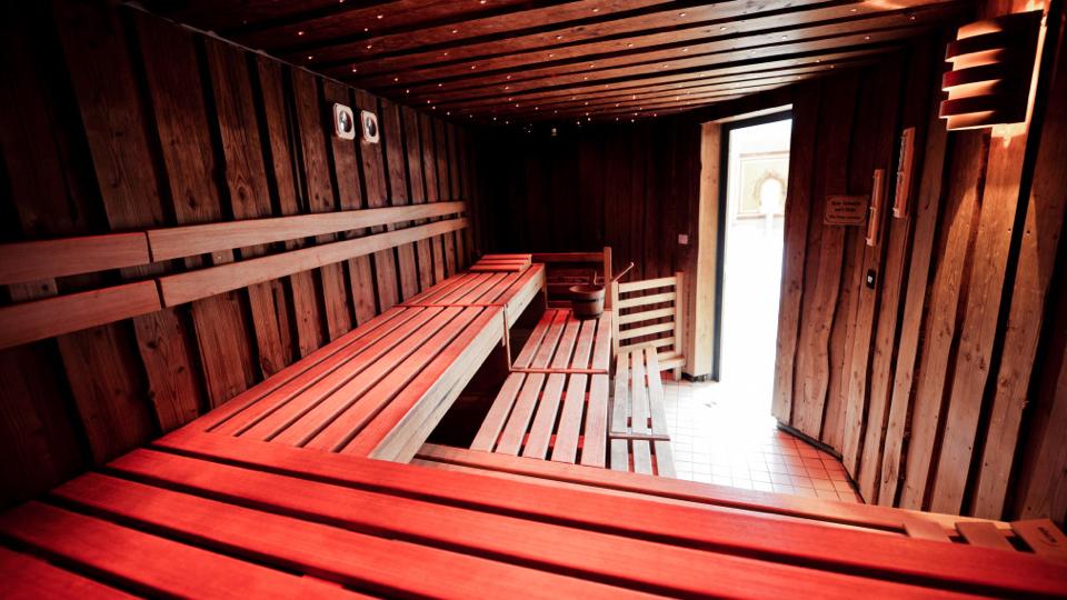 Sauna v hotelu Julen