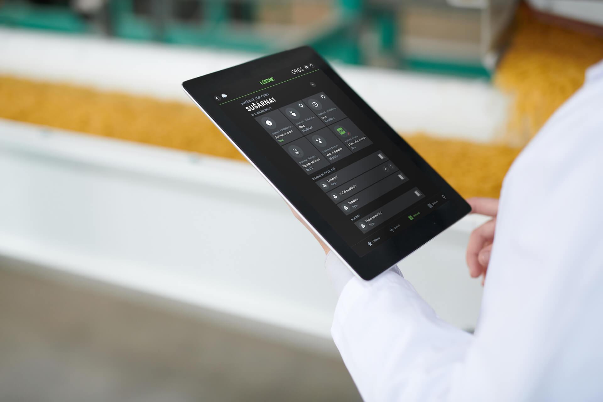 Aplikace Loxone ve výrobě těstovin