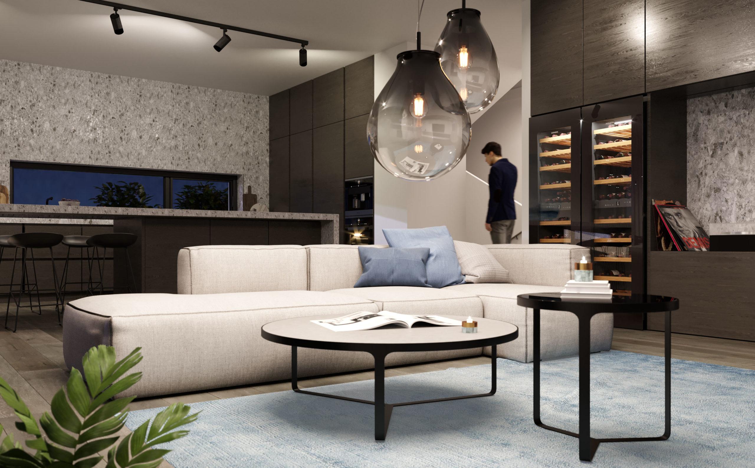 Obývací pokoj plný luxusu