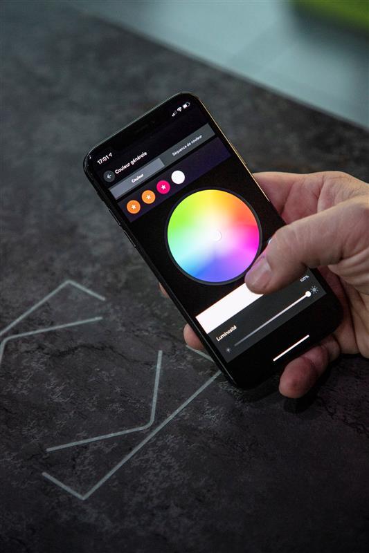 Aplikace Loxone s nastavením osvětlení