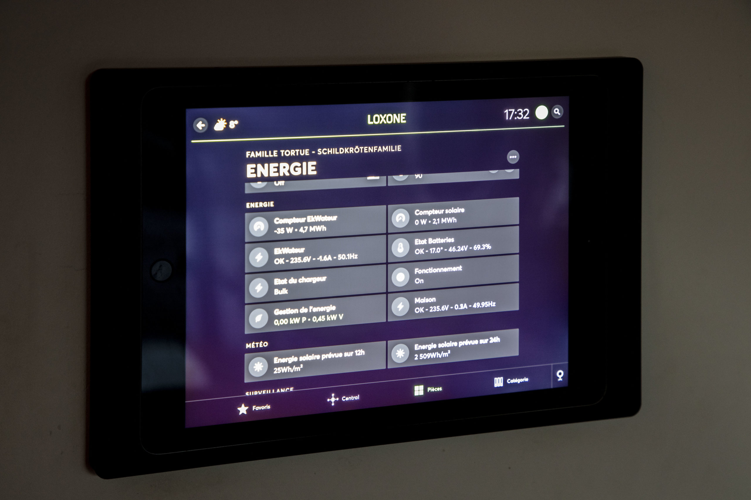iPad s aplikací Loxone