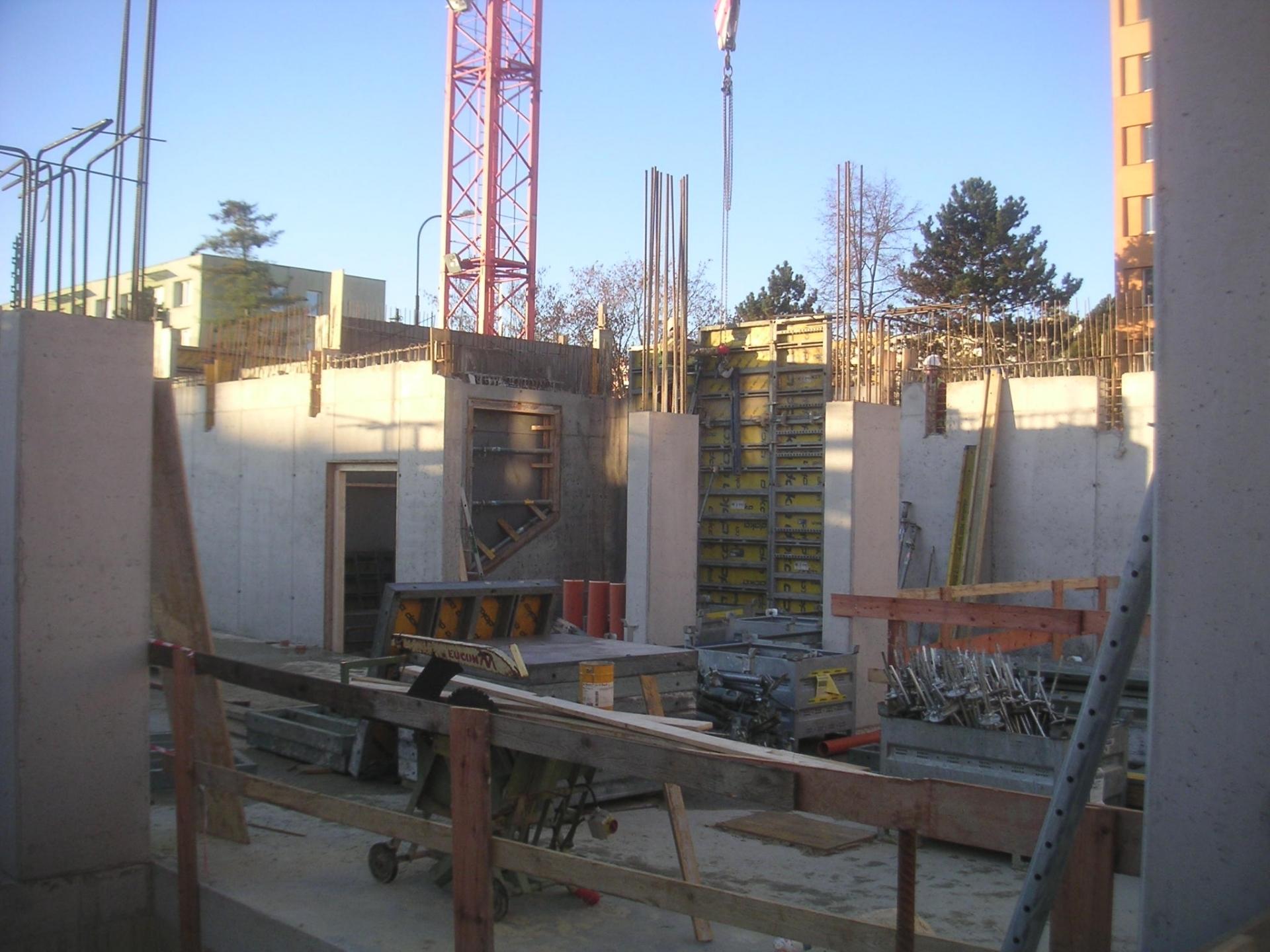 Pohled na stavbu v listopadu 2020